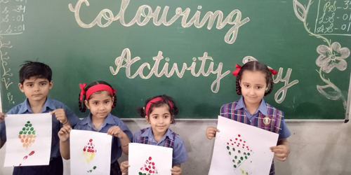Colouring Activity held in S.N. Pre School