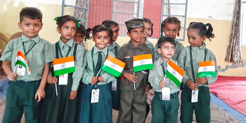 Independence Day Celebration & Rakhi / Card Making Competition at S.N.C.F. School, Preet Nagar